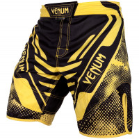 Шорты venum technical fight shorts - black/yellow