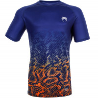 Футболка venum tropical dry tech t-shirt - blue/orange