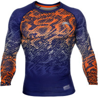 Рашгард venum tropical compression t-shirt - blue/orange