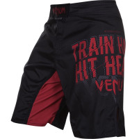 Шорты venum train hard hit heavy fightshort black