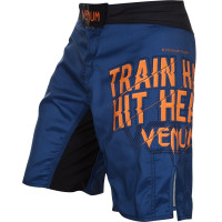 Шорты venum train hard hit heavy fightshort blue