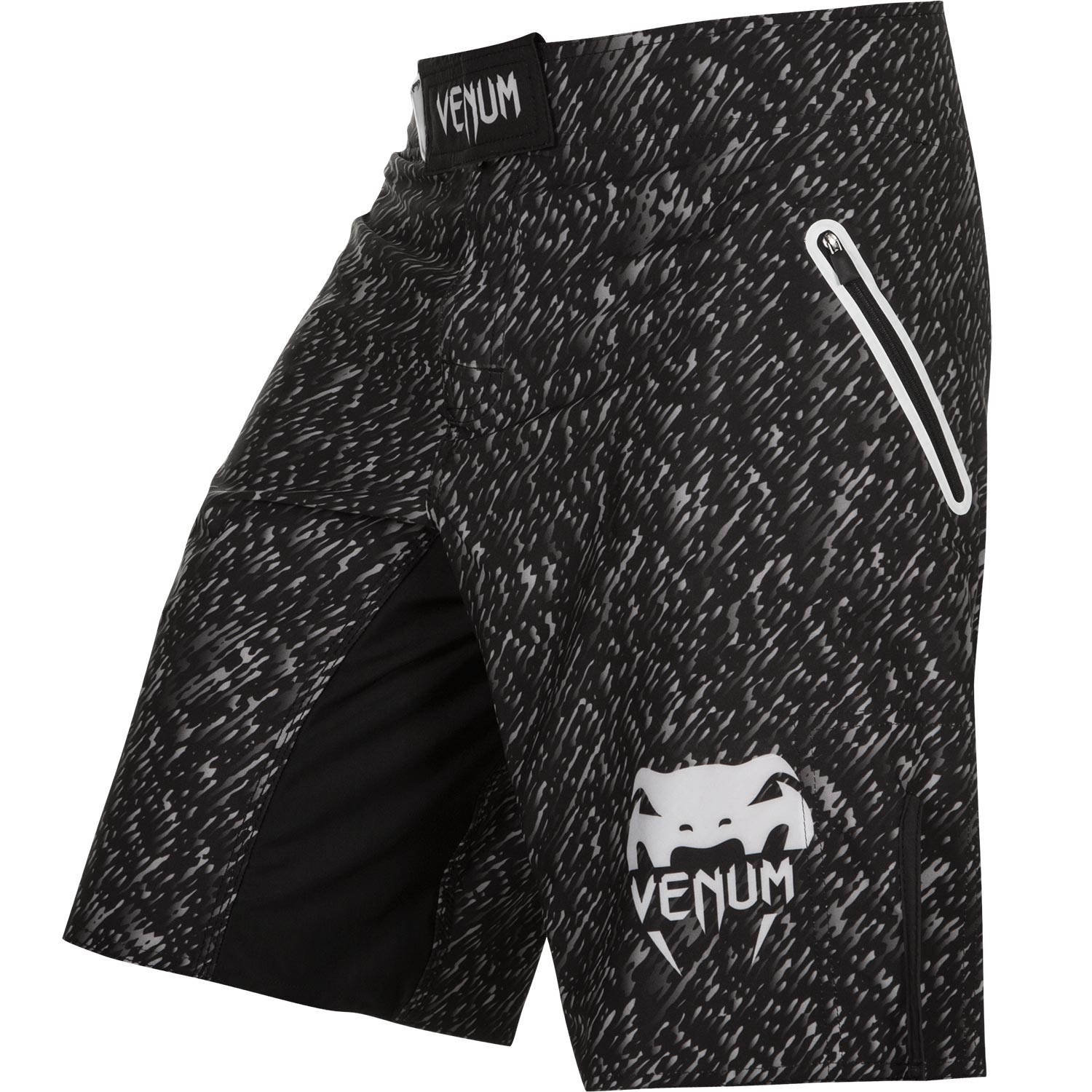 Шорты venum noise fightshort - black/white