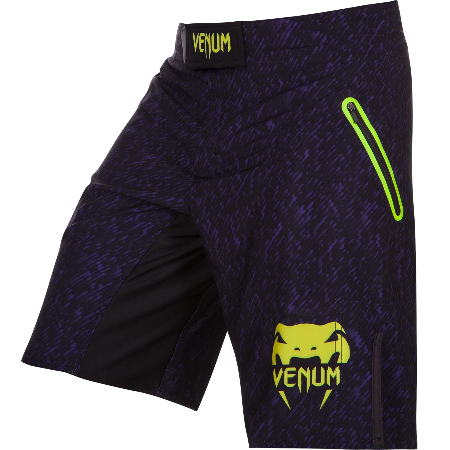 Шорты venum noise fightshort - black/yellow