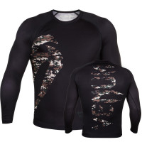 Рашгард venum original giant rashguard jungle camo long sleeve - black