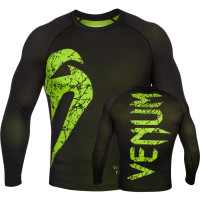 Рашгард venum original giant rashguard long sleeve - black/yellow