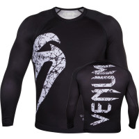 Рашгард venum original giant rashguard long sleeve - black/white