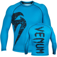Рашгард venum original giant rashguard long sleeve - blue