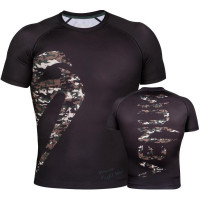 Рашгард короткий рукав venum original giant rashguard jungle camo short sleeve - black