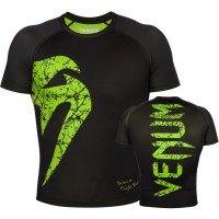 Рашгард короткий рукав VENUM ORIGINAL GIANT RASHGUARD SHORT SLEEVE - BLACK/YELLOW