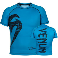 Рашгард короткий рукав venum original giant rashguard short sleeve - blue