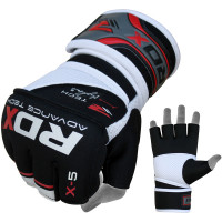 Быстрые бинты RDX Gel MMA Grappling Gloves X5 RED/BLACK