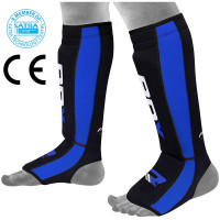 Щитки RDX Gel Neoprene Shin Instep Guard BLUE/BLACK