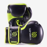 Боксерские перчатки sanabul essential gel black yellow