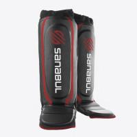 Защита голени sanabul essential hybrid shin guards black red
