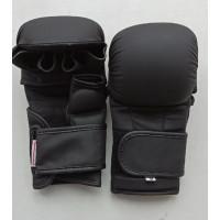 Тренировочные перчатки mma black/black