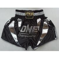 Шорты для тайского бокса venum one black silver