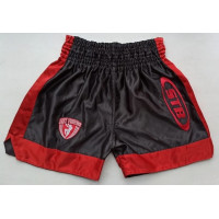 Шорты для тайского бокса stb black red