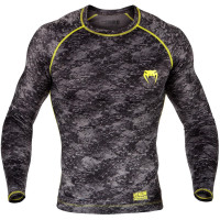 Рашгард Venum Tramo Rashguard - Long Sleeves - Black/Yellow