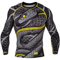 Рашгард Venum Tramo Rashguard - Long Sleeves - Black/Yellow