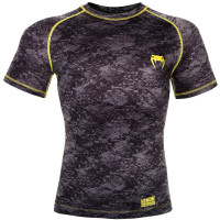 Рашгард Venum Tramo Rashguard - Short Sleeves - Black/Yellow