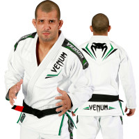 Кимоно для бжж venum elite bjj gi - white-green