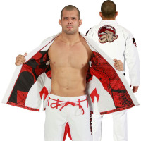 Venum absolute 2.0 crimson viper bjj gi - white