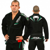 Venum elite bjj gi - black/green