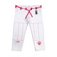 Штаны для gi bjj lion pro - white