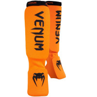 Защита ног shin guards insteps venum kontact - orange