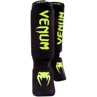 Защита ног shin guards insteps venum kontact - black neo yellow