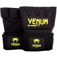 Гелевые бинты боксерские venum gel kontact glove wraps - black neo yellow