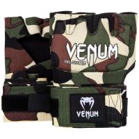 Гелевые бинты боксерские venum gel kontact glove wraps - forest camo