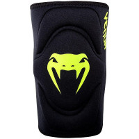 Наколенник venum kontact gel knee pad - black neo yellow