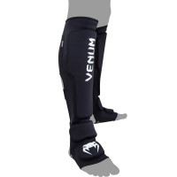 Защита ног Venum Kontact Evo Shinguards - Black