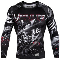 Рашгард venum samurai skull - long sleeves - black