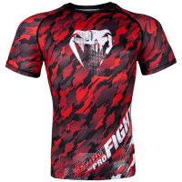 Рашгард venum tecmo rashguard - short sleeves - red