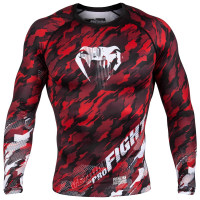 Рашгард venum tecmo - long sleeves - red
