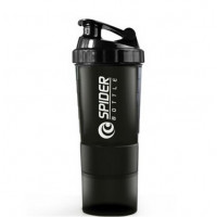 Шейкер Spider Bottle Shaker (600 мл) Black