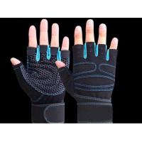 Перчатки для кроссфита и фитнесса синие