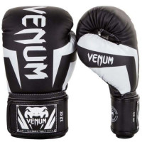 Перчатки боксерские Venum Elite Boxing Gloves - Black/White