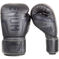 Перчатки боксерские venum elite boxing gloves - grey/grey