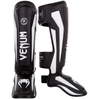 Защита ног venum elite shin guard black/white