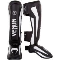 Защита ног venum elite shin guard black/white