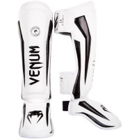 Защита ног venum elite shin guard white/black