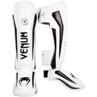 Защита ног venum elite shin guard white/black