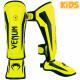 Детская защита ног venum elite shin guard neo yellow