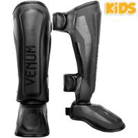 Детская защита ног venum elite shin guard black