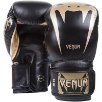 Боксерские перчатки venum giant 3 boxing gloves - black gold - nappa leather