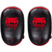 Тайпэды Venum Kick Pads Leather Black/Red
