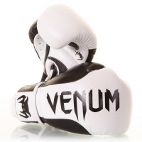 Боксерские перчатки venum absolute boxing gloves nappa leather - black/white